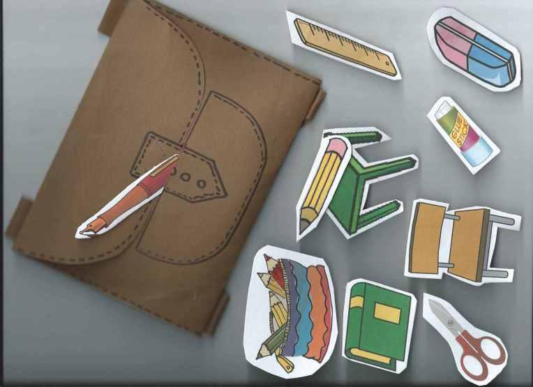 Plecaczek i rzeczy do wkładania i kładzenia