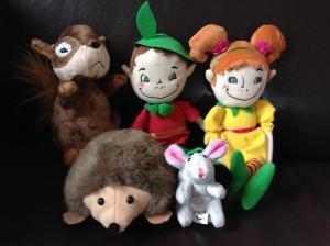 Moi pomocnicy na jutrzejszą lekcję - Holly, Bud, Squirrel, Hedgehog i Mouse