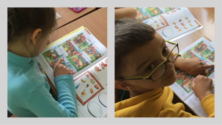 Class 1a reading the picnic.