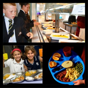 School canteen in UK
