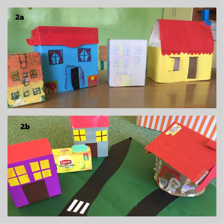 Student-made houses in Treetops Town