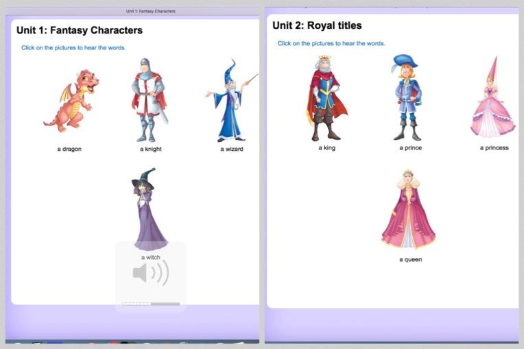 Fantasy worlds vocab