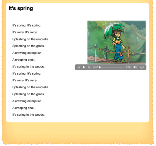 It's spring SONG